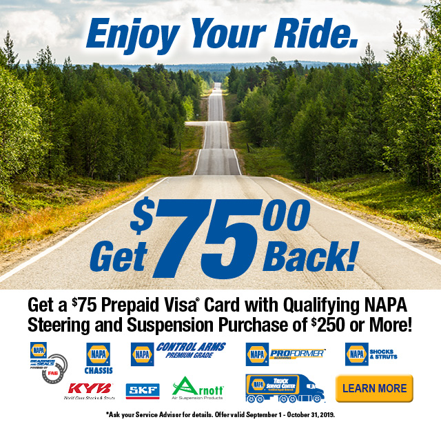 Receive up to a $75 Prepaid Visa® with qualifying purchase