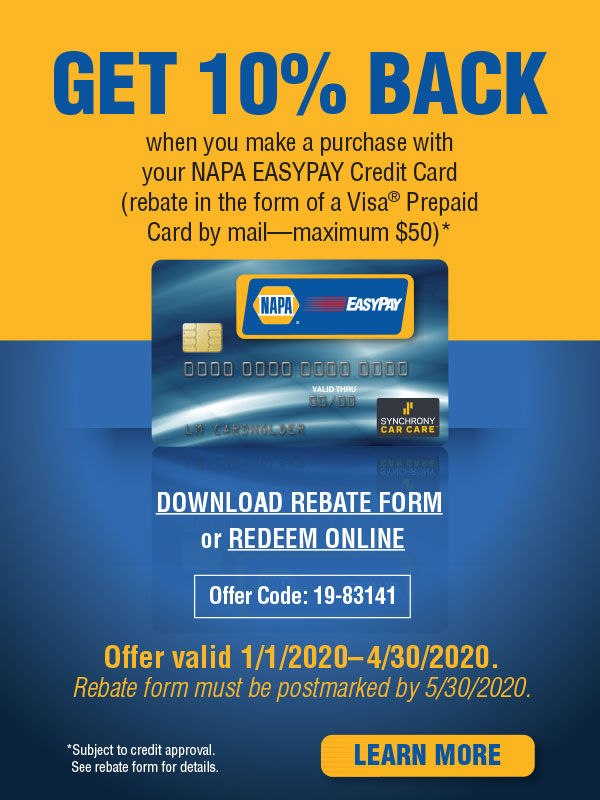 Get 10% back on VISA® prepaid card.